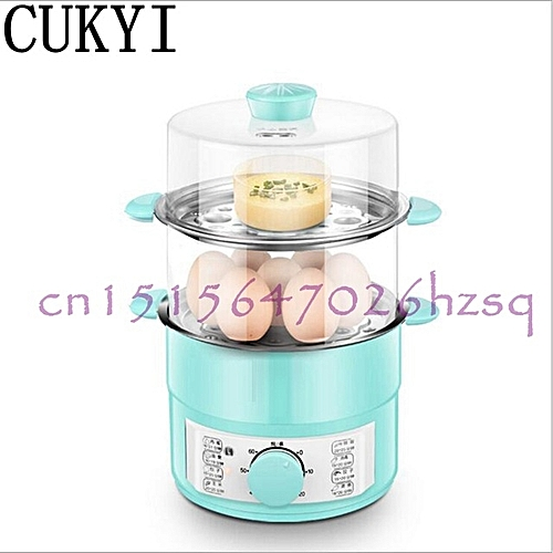 CUKYI 220V 600W Household Double Layer Electric Egg Cooker Boiler For Up To 14 Eggs Stainless Steel Tray Hot Pot/Cook Noodles