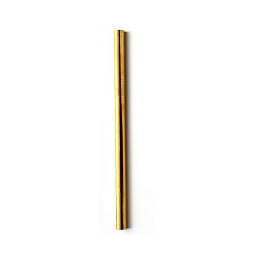 Practical Colorful Design 304 Stainless Steel Straws Reusable Drinking Straw Gold