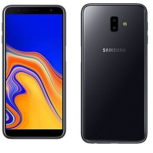 Galaxy J6 Plus - 6 Inch (32GB + 3GB Ram, Dual Rear 13MP+5MP, 8MP Selfie) 8.1 Oreo, Dual Sim, 4G LTE - Black With FREE 5,000mah POWERBANK