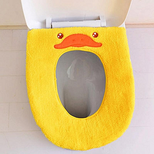 Eleganya 1PC House Practical Cute Cartoon Modeling Plush Toilet Seat Cushion