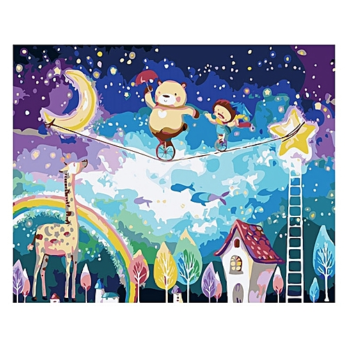Children Cartoon Frameless Pictures Painting By Numbers DIY Digital Oil Painting Europe Home Decoration Pictures