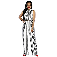 8d999b85224e African Women  039 s Jumpsuits Clothing Without Sleeves White