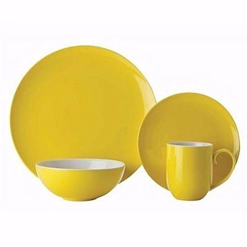 Rozay Dinner Set - 16pcs - Yellow