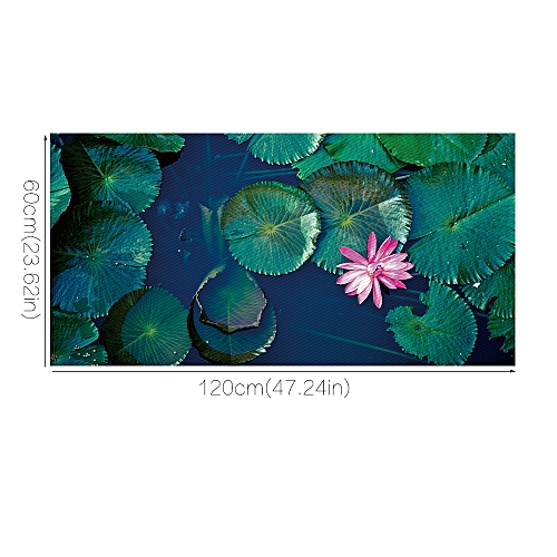 Lodaon Water Lily Removable 3D Floor Sticker Decal Mural Living Room Home Decor