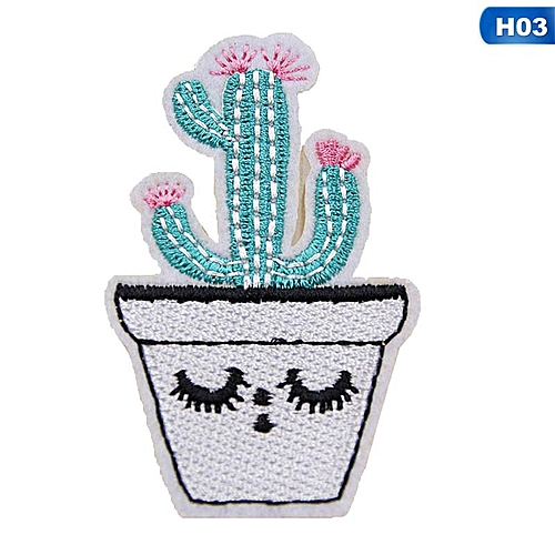 Eleganya Creativity Lovely Embroidery Plant Clothing Shoes Simple Cloth Stickers H03