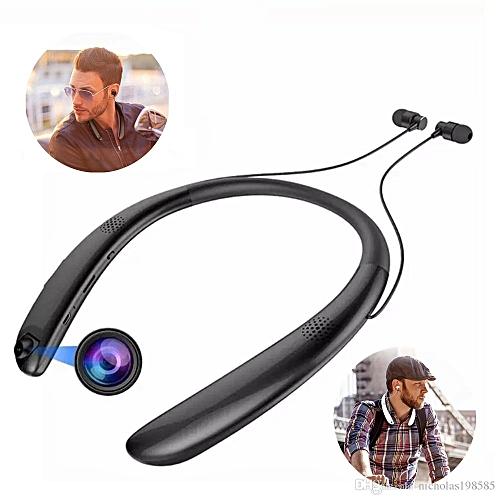 V9 Bluetooth Necksets With Secret Camera Recording & Outside Speaker + Chupez 32Gb Memory Card