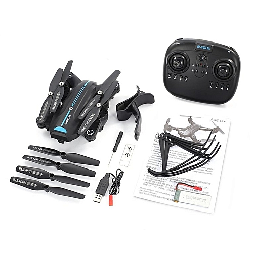 TA-A6W Foldable RC Drone Wi-Fi FPV With Camera Live Video Altitude Hold Quadcopter Black