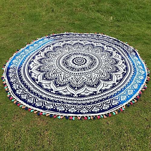 Round Hippie Tassel Tapestry Beach Throw Mandala Towel Yoga