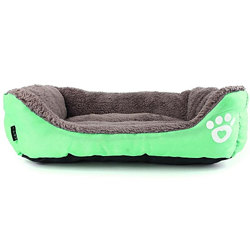 New Pet Dog Cat Bed Soft Puppy Cushion House Warm Pet Kennel Dog Mat Pad Blanket Green