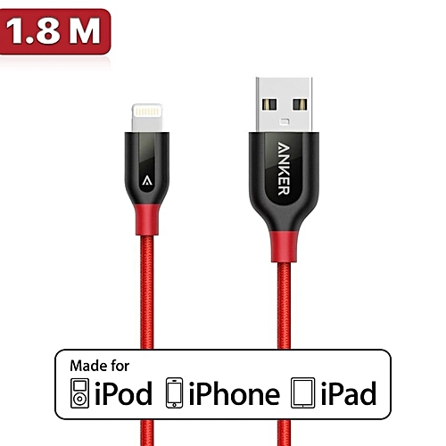 Anker Best Lightning To USB Cable For IPhone Cable 6ft 180cm Nylon & Kevlar 2A Fast Charging Cable For IPhone 7 PowerLine Plus A8122
