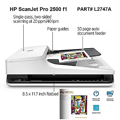 ScanJet Pro 2500 F1 Flatbed Document/Photo Office Scanner