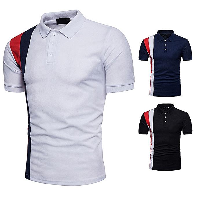 71afd63c2b5e 2018 Fashion Short Sleeve Polo Shirt Men Turn Down Collar Summer Polo Men  Brand Shirt -