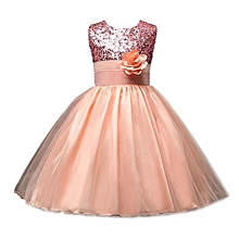 Kids Baby Girl Pageant Wedding Birthday Party Princess Bridesmaid Dress  Musiccool e17bc4cc94e7