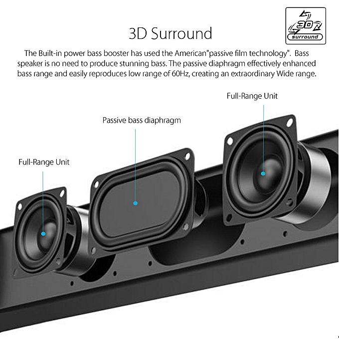 Bars For Home Home Theater: Generic TV Sound Bar Home Theater Subwoofer Soundbar