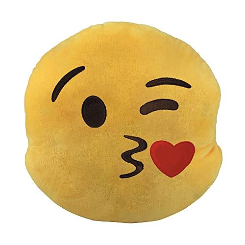PillowNew Emoji Car Pillow Expression Creative Circular Car Back Cushion D-as Shown
