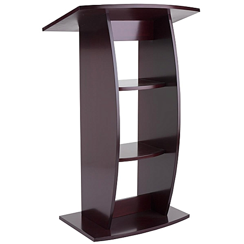 Chocolate Brown Church Pulpit-4ft Tall