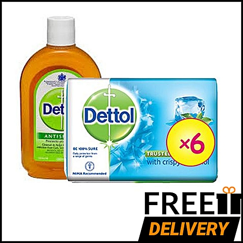 Best Ever Cool Anti-bacterial Soap 110g (Pack Of 6) + Antiseptic Liquid Disinfectant 250ml + Free Shipping ( Lagos )