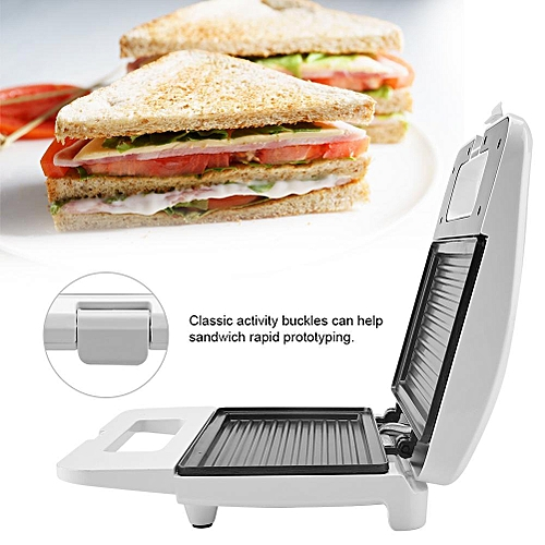 Household Electric Nonstick Baking Plate Sandwich Machine Toaster EU Plug 220-240V