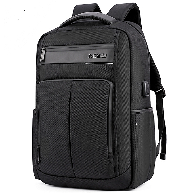 Men s Bags Suitable   Comfortable Business Water Resistant Polyester Laptop  Backpack With USB Charging Port Under ... 3d0a243dae1eb