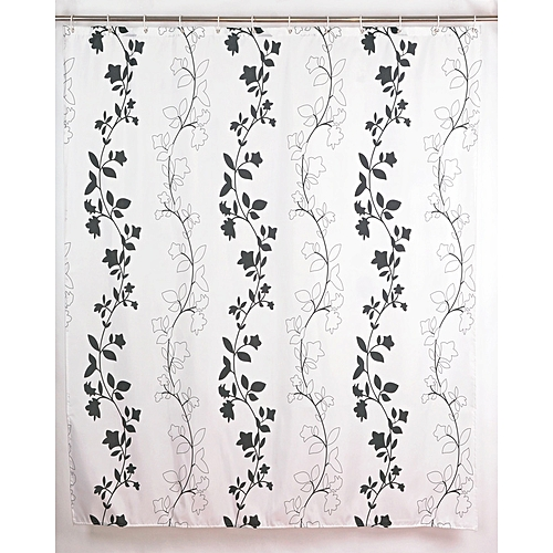 Shower Curtain With Hooks,180x180cm,Print Polyester Fabric,Waterproof,Ivy