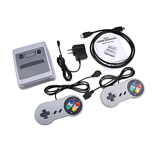 Family Recreation Video Game Console HD 8 Bit Dual Gamepad Gaming Player White&grey US