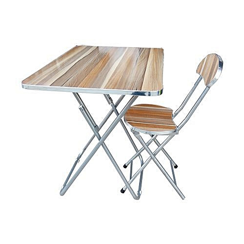 Adjustable Reading/Laptop Table And Chair(Wood & Metal) - Rectangular