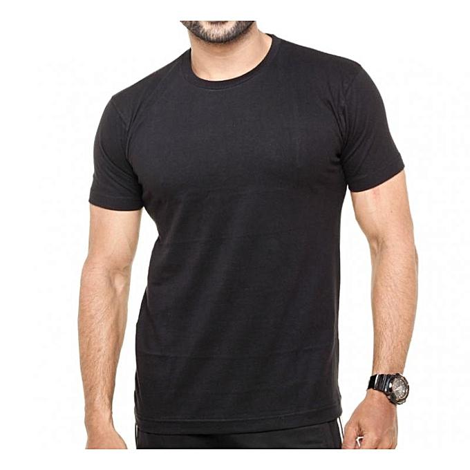Buy bnb men 39 s plain black t shirt best price online for Best quality mens white t shirts