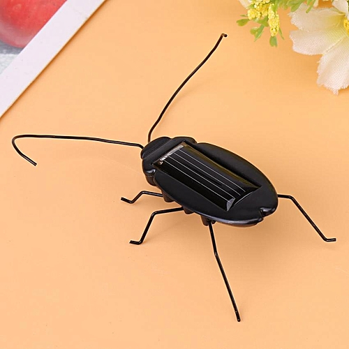1Pc Mini Magic Solar Energy Powered Cockroach Educational Insect Kid Toy Gift Cockroach