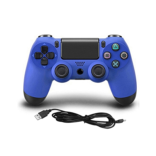 USB Wired Game Controller Gamepad For Sony PS4 Color:blue