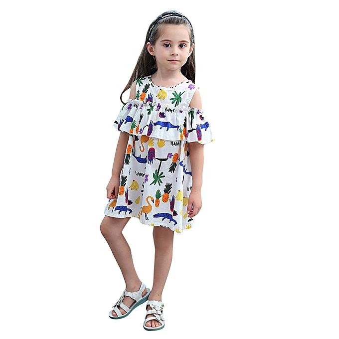 ad250d39471b Fashion 2019 Kids Toddler Baby Girls Cartoon Print Princess Dress Clothes  Summer Floral Outfits Clothes Musiccool | Jumia NG