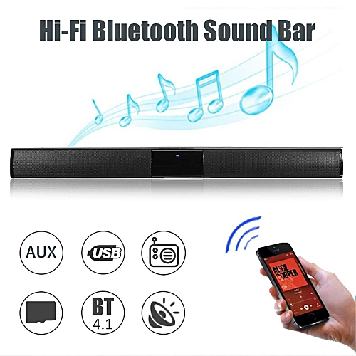 20W Wireless Bluetooth Soundbar Stereo Hi-Fi Home Theater Speaker Subwoofer Box