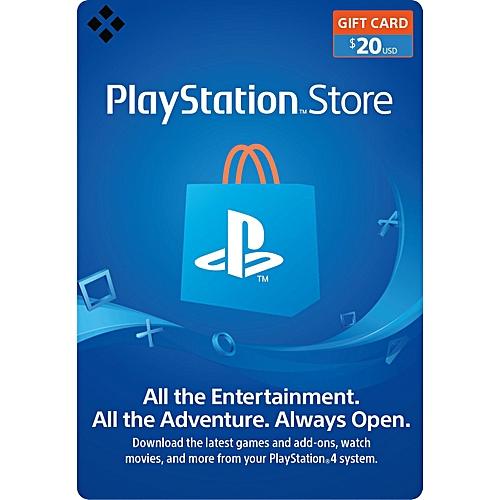 PSN $20 Gift Card For PS3/PS4/PSvita