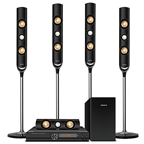 Home Theater Sound System With Super Tallboy Speakers