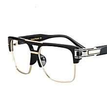 ee794f6c31c1d Half Frame Eyeglasses Frames Men Square Optical Eye Glasses Frames For Women  Brand Designers-Black