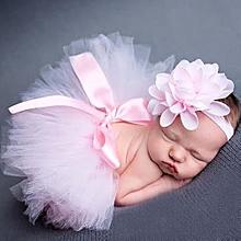 2844fd7d0 Newborn Baby Girls Headdress Flower+Tutu Clothes Skirt Photo Prop Costume  Outfit