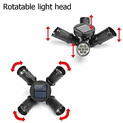 28LED Solar Four Heads Lawn Lamp 10W Solar: 5V 120mAH 20LM/ Light IP65 PC Material Insert Ground Light White Light Single