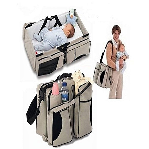 Baby Bag 3 In 1 Diaper Travel Bed Change Station