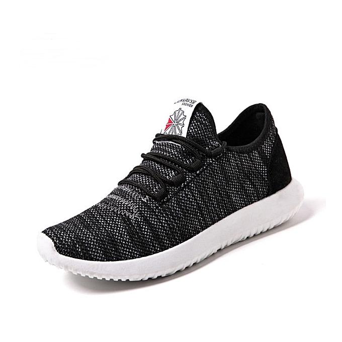 b98b6b60f33a Men Shoes Running Breathable Lightweight Sneaker - Black(+ 1 Free Pair Of  Socks) ...