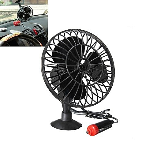 Powered Mini Cooling Air Table Fan (Black)