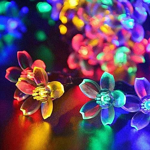KCASA 5M 50 LED Sakura Flower String Lights LED Fairy Lights For Festival Christmas Halloween Party Wedding Decoration Battery Powerd
