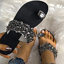 1cda11767 Women Fashion Casual Shoes Crystal Sandals Summer Slippers