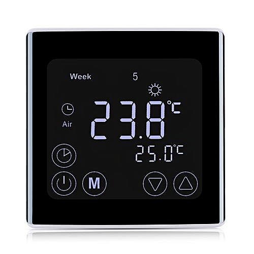 【Clearance】Floureon BYC17.GH3 LCD Display Thermostat - Black