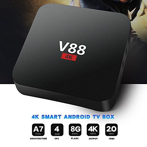 V88 Plus RK3328 KODI Quad Core Android 7.1 TV BOX 2G/16GB WiFi 4K H.265 Media-Eu