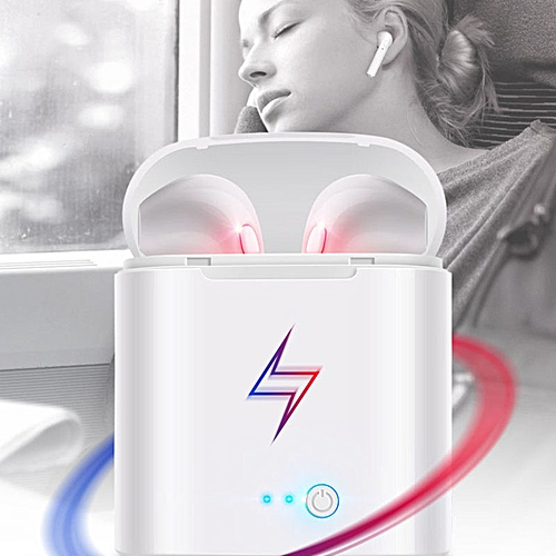 Single I7 Bluetooth Headset Tws With Charging White