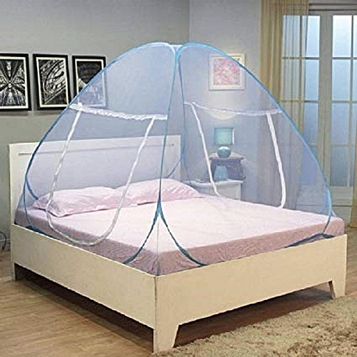 Colapsible Adults 2 Zipper Door- Sleeping Large Size Mosquito Net Bed Canopy