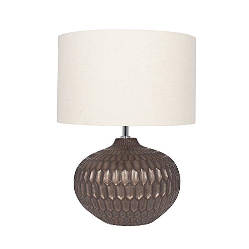 Bronze Textured Glazed Ceramic Table Lamp
