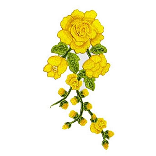Eleganya Women Sweet Embroidery Flowers Generic Boutique Cloth Sticker