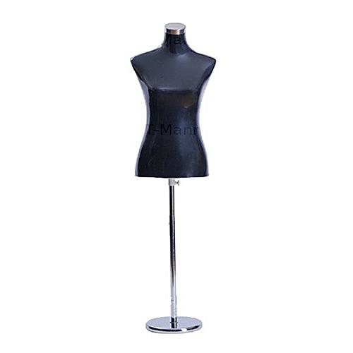 Black Female Hard Half Body Display Dress Form Mannequin