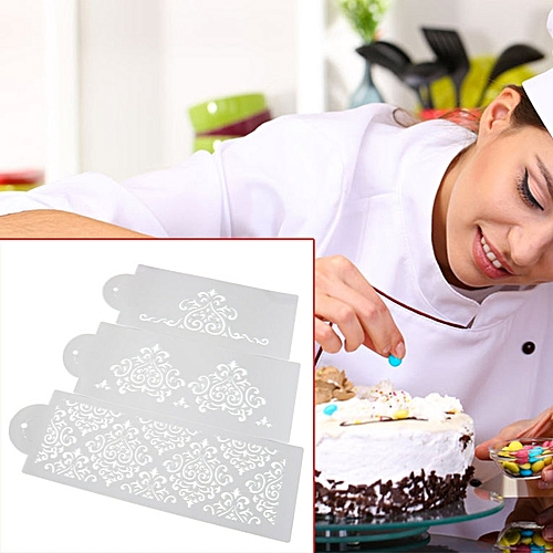 Filigree Damask Flower Cake Stencil Carved Sugar Craft Fondant Printing Mold