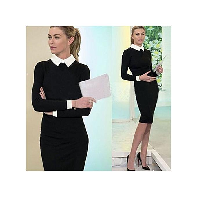 8980628f6 Women Elegant Office Dress Summer Dresses Wear To Work Sheath Bodycon Dress  Work Dresses-black